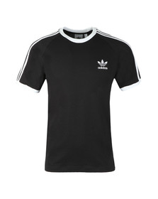 adidas Originals Mens Black 3 Stripes T-Shirt