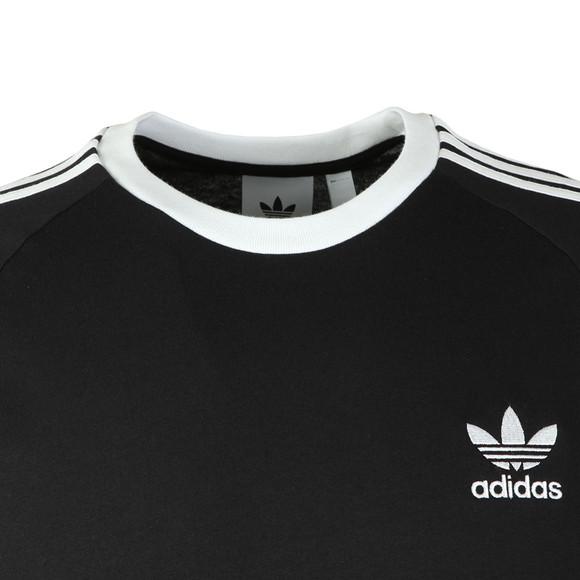 adidas Originals Mens Black 3 Stripes T-Shirt main image