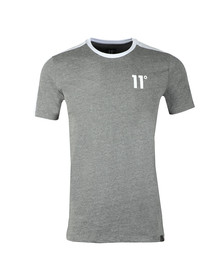 Eleven Degrees Mens Grey S/S Block Tee