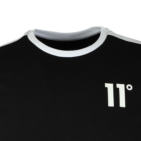 Eleven Degrees Mens Black S/S Block Tee main image