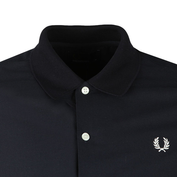 Fred Perry Mens Blue S/S Knitted Collar Shirt main image