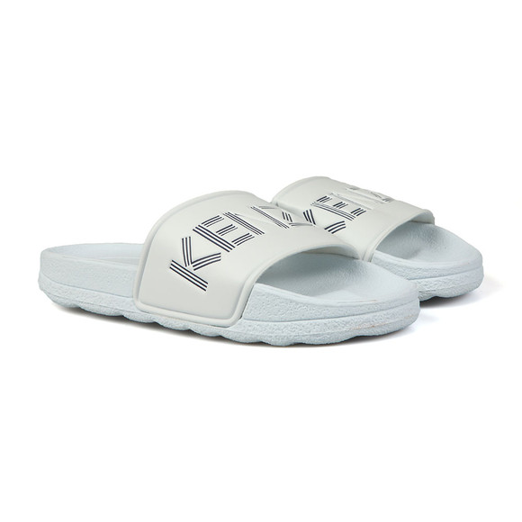 Kenzo Kids Boys White Logo Slides main image