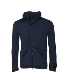 CP Company Mens Blue Nycra Goggle Viewer Utility Jacket