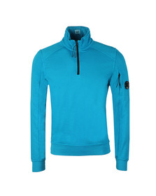 C.P. Company Mens Blue Half Zip Sweat