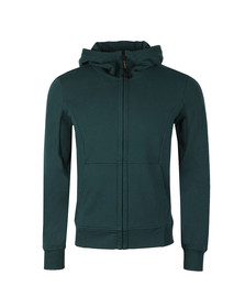 C.P. Company Mens Green Full Zip Goggle Hoody
