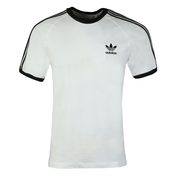 adidas Originals Mens White 3 Stripes Tee main image