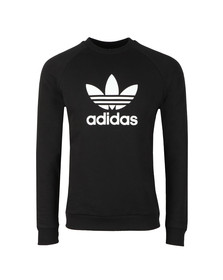 Adidas Originals Mens Black Trefoil Crew Sweat