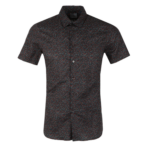 PS Paul Smith Mens Blue S/S Spot Print Shirt