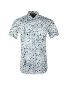 PS Paul Smith Mens White S/S Patern Shirt