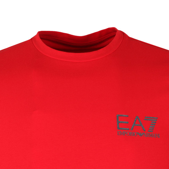 EA7 Emporio Armani Mens Red Small Metallic Logo T Shirt main image