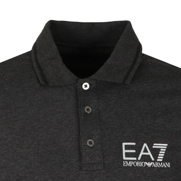 EA7 Emporio Armani Mens Grey Tipped Polo Shirt main image