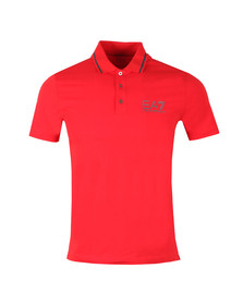 EA7 Emporio Armani Mens Red Tipped Polo Shirt