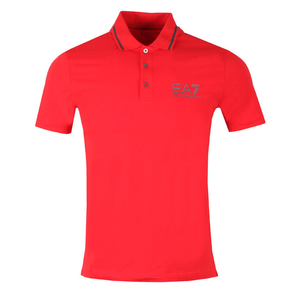 EA7 Emporio Armani Mens Red Tipped Polo Shirt main image