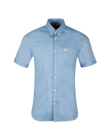 Fred Perry Mens Blue Classic Oxford S/S Shirt