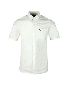 Fred Perry Mens White Classic Oxford S/S Shirt