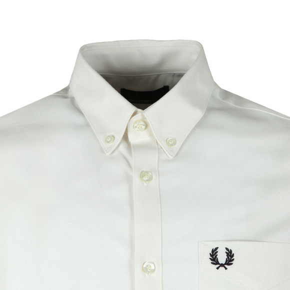 Fred Perry Mens White Classic Oxford S/S Shirt main image