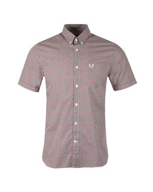 Fred Perry Mens Blue Three Colour Gingham Shirt