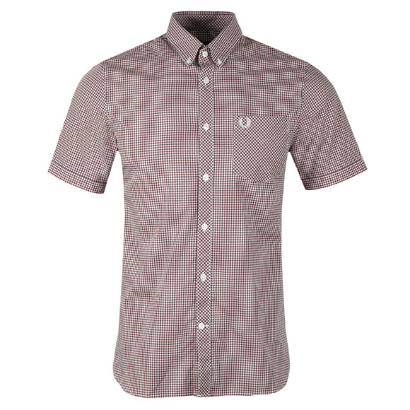 Fred Perry Mens Blue Three Colour Gingham Shirt main image