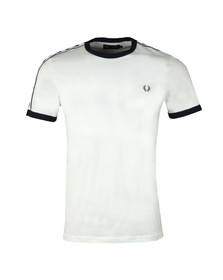 Fred Perry Sportswear Mens White Taped Ringer T-Shirt