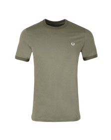 Fred Perry Sportswear Mens Green Ringer T-Shirt