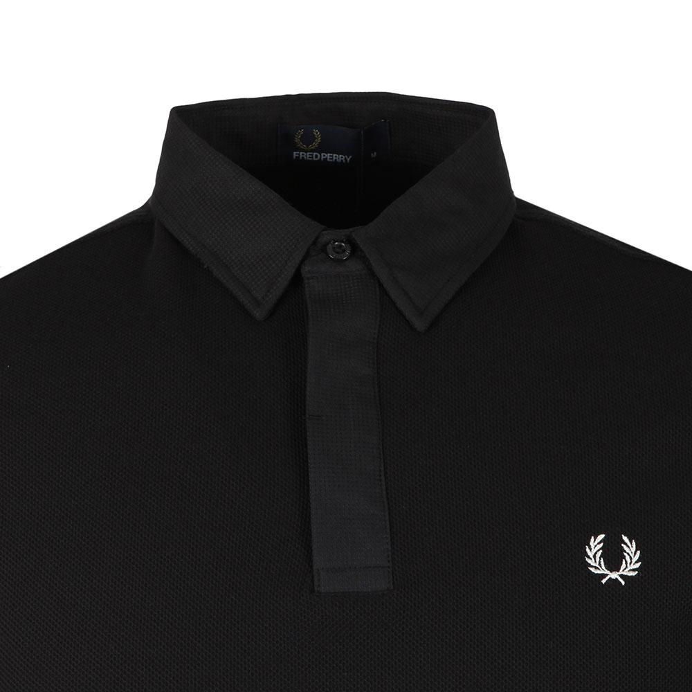 Waffle Collar Pique Polo Shirt main image