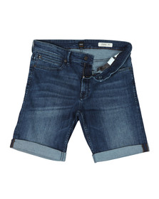 Boss Orange Mens Blue Regular Super Stretch Denim Shorts