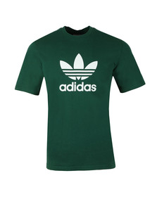 Adidas Originals Mens Green Trefoil Tee