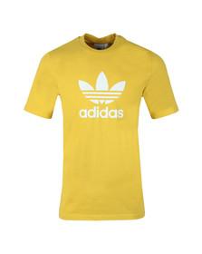 Adidas Originals Mens Yellow Trefoil Tee
