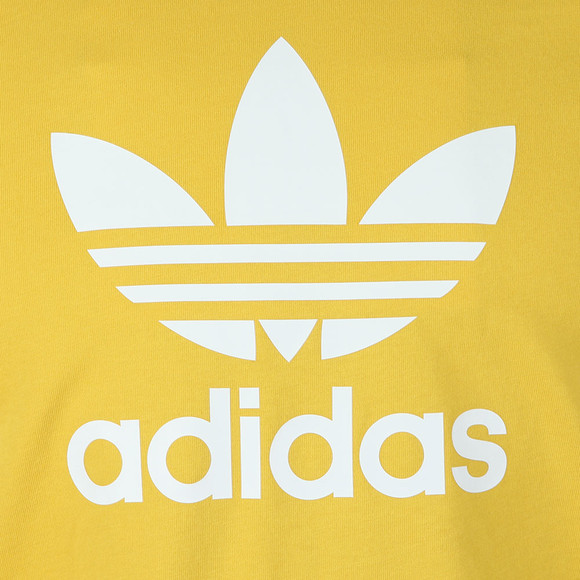 Adidas Originals Mens Yellow Trefoil Tee main image