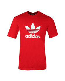 Adidas Originals Mens Red Trefoil Tee