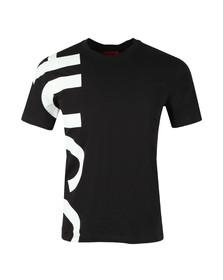 Hugo Mens Black Daws Oversized Logo T-Shirt