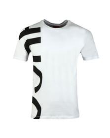 Hugo Mens White Daws Oversized Logo T-Shirt