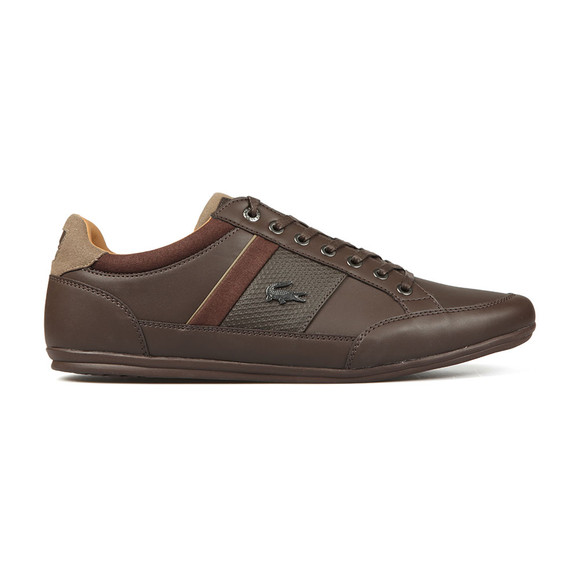 Lacoste Mens Brown Chaymon 118 Leather Trainer main image