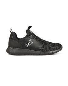 EA7 Emporio Armani Mens Black Simple Racer Trainer