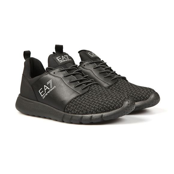 EA7 Emporio Armani Mens Black Simple Racer Trainer main image