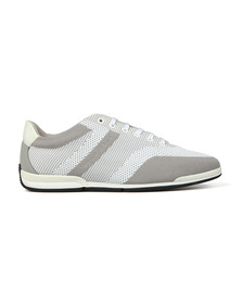 Boss Mens Grey Saturn low Knitted Trainer