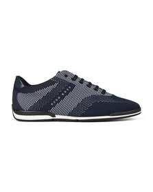 Boss Mens Blue Saturn low Knitted Trainer