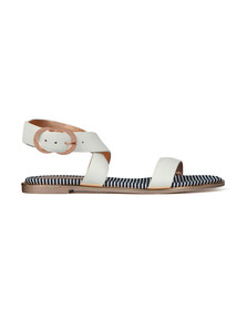 Ted Baker Womens White Qereda Leather Sandal
