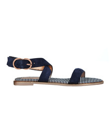 Ted Baker Womens Blue Qeredas Suede Sandal