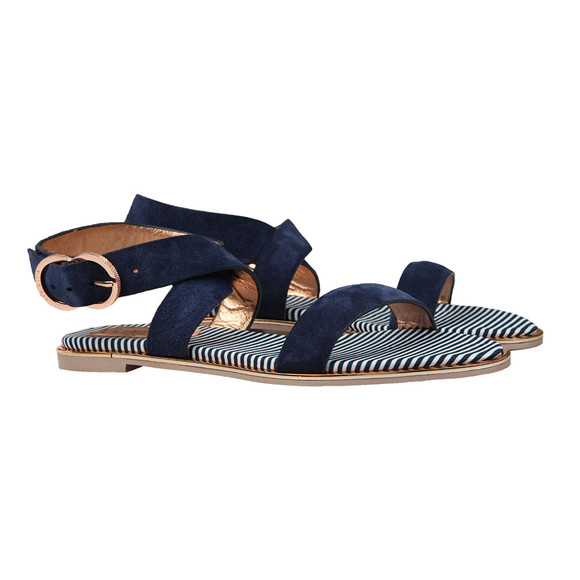 Ted Baker Womens Blue Qeredas Suede Sandal main image