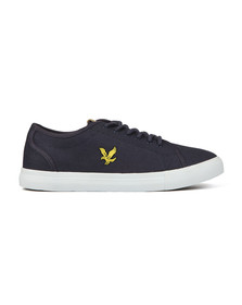 Lyle and Scott Mens Blue Teviot Twill Trainers