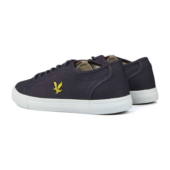 Lyle and Scott Mens Blue Teviot Twill Trainers main image