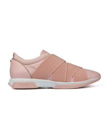 Ted Baker Womens Pink Queane Leather Trainer