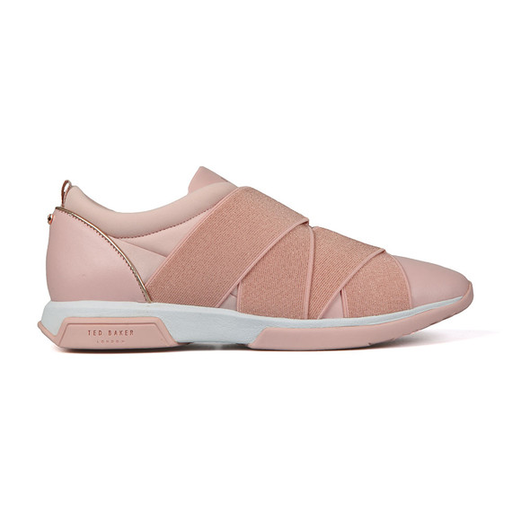 Ted Baker Womens Pink Queane Leather Trainer main image
