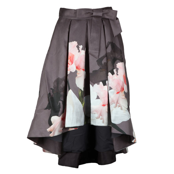 Ted Baker Womens Grey Thali Chatsworth Full Midi Skirt main image