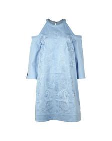 Ted Baker Womens Blue Jettas Cut Out Shoulder Cotton Dress