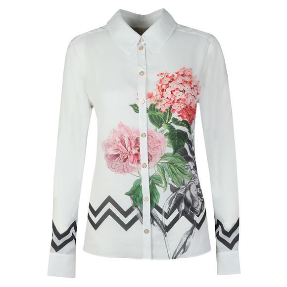 Ted Baker Womens White Giada Palace Gardens Long Sleeve Shirt main image