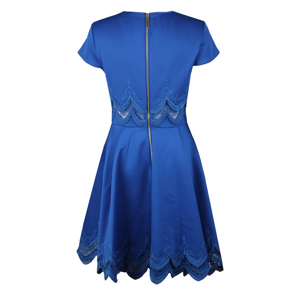 Ted Baker Womens Blue Rehanna Embroidered Cap Skater Dress main image