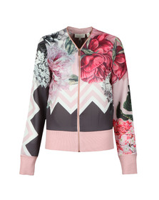 Ted Baker Womens Dusty Pink Pakrom Palace Gardens Zip Up Cardigan