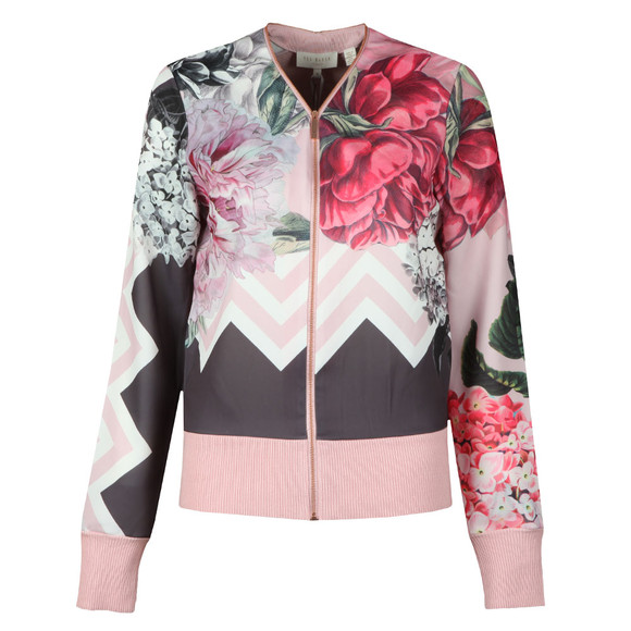 Ted Baker Womens Pink Pakrom Palace Gardens Zip Up Cardigan main image